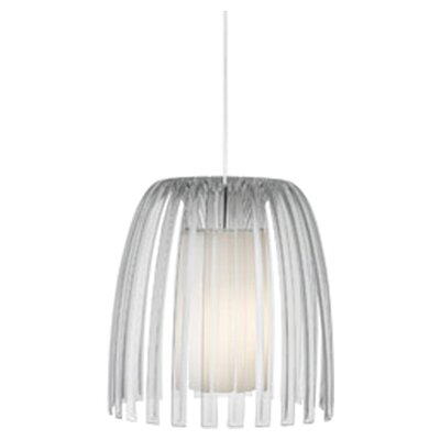 Olivia 1-Light Mini Pendant Shade Color: Clear, Bulb Type: Fluorescent