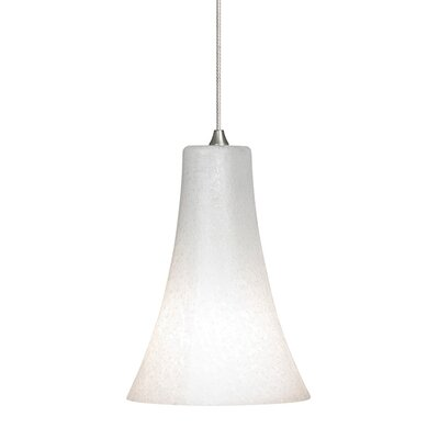 Indulgent 1-Light Mini Pendant Finish: Satin Nickel, Shade Color: Opal
