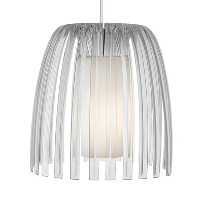 Olivia 1-Light Mini Pendant Shade Color: Clear