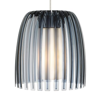 Olivia 1-Light Mini Pendant Shade Color: Smoke