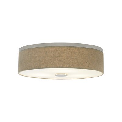 Fiona 3-Light Flush Mount Bulb Type: Compact Fluorescent 277 V, Finish: Satin Nickel, Shade Color: Pebble