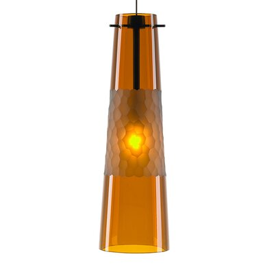 1-Light Mini Pendant Finish: Bronze, Bulb Type: GY6.35 Xenon 50W