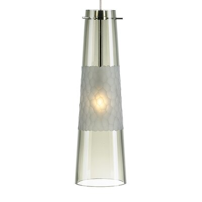Bonn 1-Light Monopoint Mini Pendant Bulb Type: GY6.35 Xenon 50W, Finish: Satin Nickel