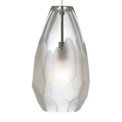 Briolette 1-Light Mini Pendant Finish: Satin Nickel, Shade Color: Frost