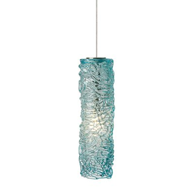 Isis 1-Light Mini Pendant Finish: Satin Nickel, Shade Color: Aqua