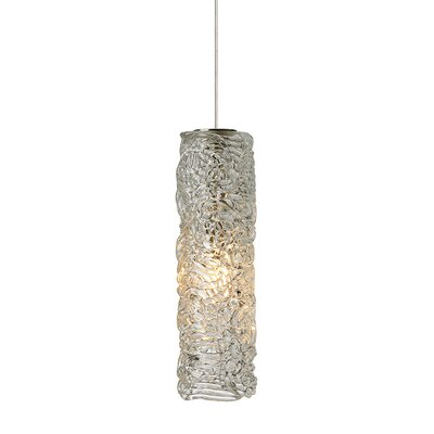 Isis 1-Light Mini Pendant Finish: Satin Nickel, Shade Color: Clear