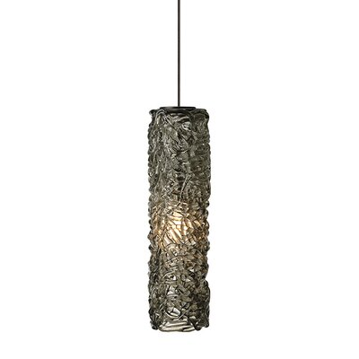 Southridge 1-Light Mini Pendant Finish: Satin Nickel, Shade Color: Amber