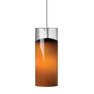 Horizon 1-Light Mini Pendant Finish: Satin Nickel, Shade Color: Dark�Brown