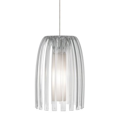 Mini-Olivia 1-Light Monopoint Mini Pendant Shade Color: Clear, Bulb Type: GY6.35 Xenon 50 W