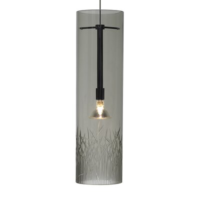Springview Fusion Jack 1-Light Mini Pendant Finish: Satin Nickel, Shade Color: Smoke