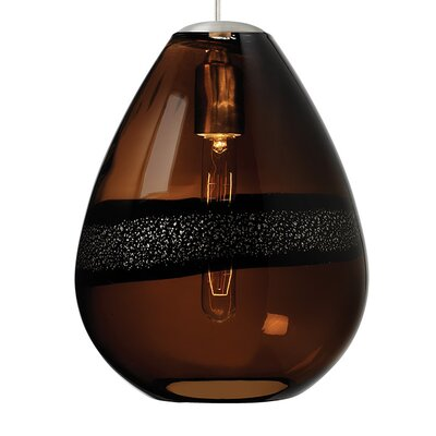 Herron Classic 1-Light Bowl Pendant Finish: Satin Nickel, Shade Color: Dark Brown