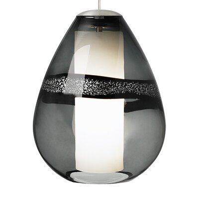Miyu 1-Light Mini Pendant Finish: Satin Nickel, Shade Color: Gray