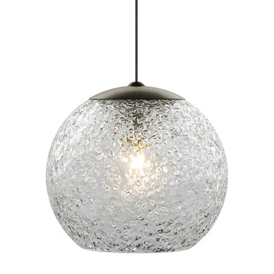 Mini-Rock Candy Round 1-Light Monopoint Mini Pendant Bulb Type: GY6.35 Xenon 50 W, Finish: Bronze, Shade Color: Clear