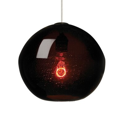 Isla 1-Light Mini Pendant Finish: Satin Nickel, Shade Color: Brown