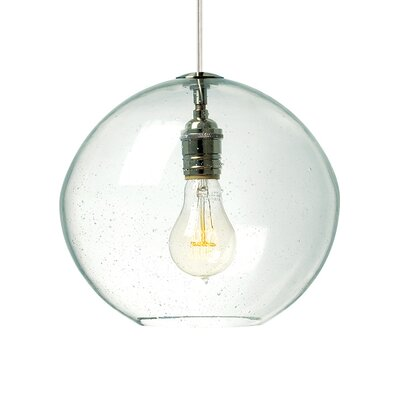 Isla 1-Light Mini Pendant Finish: Satin Nickel, Shade Color: Clear