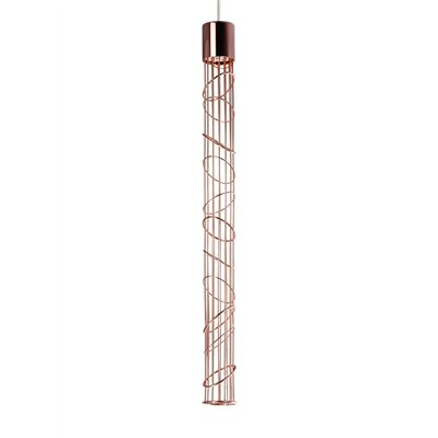 Vigi 1-Light Fusion Jack Mini Pendant Shade Color: Rose Gold
