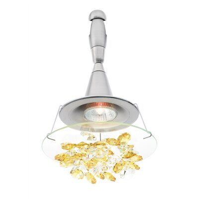 Vision Chandelier Head Shade Color: Amber, Finish: Satin Nickel