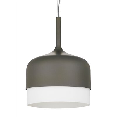 Mezzo Grande 1-Light Drum Pendant Finish: Gray, Bulb Type: Compact Fluorescent
