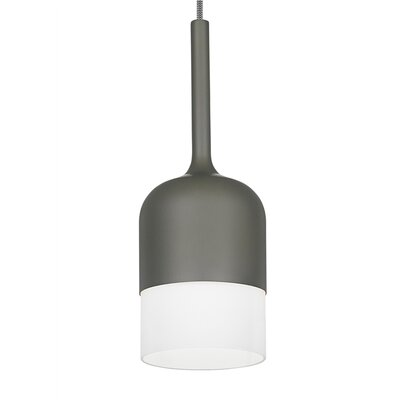 1-Light Drum Pendant Finish: Gray