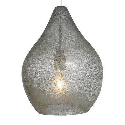 Macintyre 1-Light Mini Pendant Finish: Satin Nickel, Color: Clear