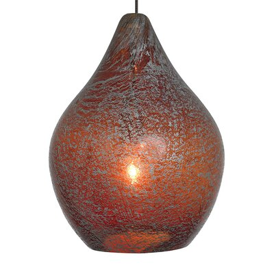 Macintyre 1-Light Mini Pendant Finish: Bronze, Color: Orange