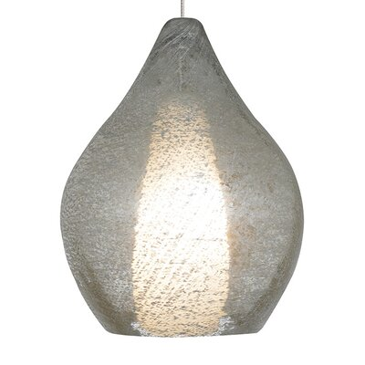 Relic No. 2 1-Light Fusion Jack Mini Pendant Finish: Satin Nickel, Color: Clear