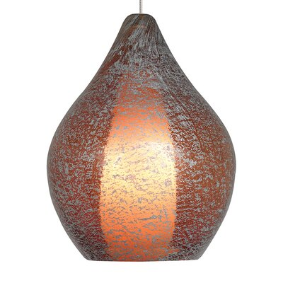 Macintyre 1-Light Fusion Jack Mini Pendant Finish: Satin Nickel, Color: Orange