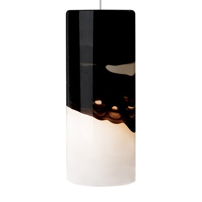 Rio 1-Light Mini Pendant Finish: Satin Nickel, Shade Color: Gray/Purple