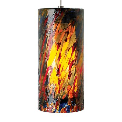 Folden 1-Light Mini Pendant Finish: Bronze, Shade Color: Blue/Amber/Red