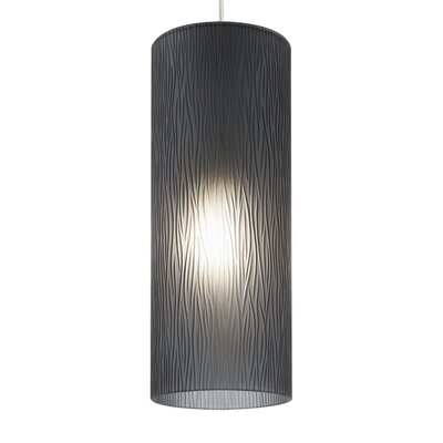 Akari 1-Light Mini Pendant Finish: Satin Nickel, Shade Color: Smoke, Bulb Type: Compact Fluorescent