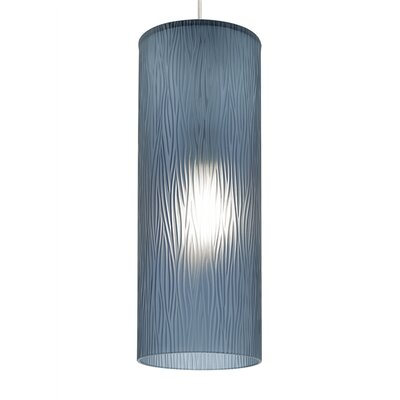Akari 1-Light Mini Pendant Shade Color: Steel Blue, Bulb Type: Incandescent, Finish: Satin Nickel