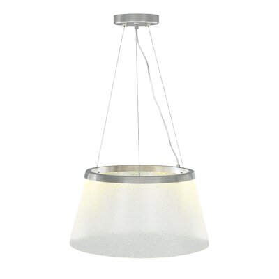 Duke Grande 1-Light Drum Pendant Finish: Satin Nickel, Bulb Type: LED 120 V, Shade Color: Clear/Fizz