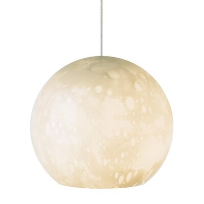 Aquarii 1-Light Mini Pendant Shade Color: Ivory, Finish: Satin Nickel