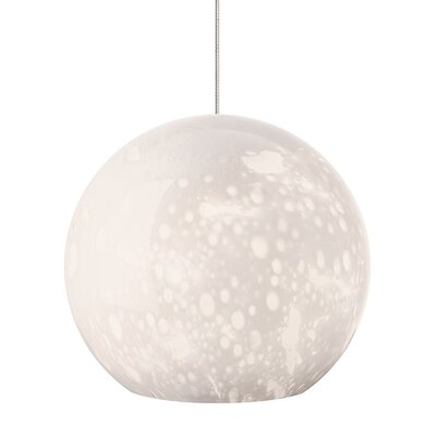 Polston 1-Light Mini Pendant Finish: Satin Nickel, Shade Color: Opal