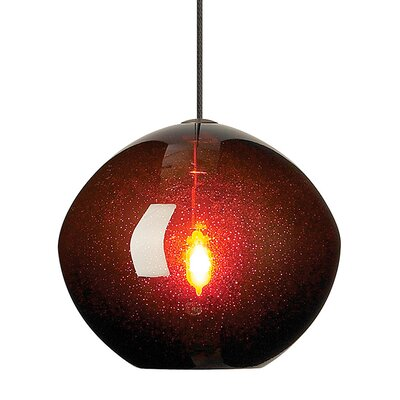 Centeno 1-Light Fusion Jack Bowl Pendant Finish: Bronze, Shade Color: Brown