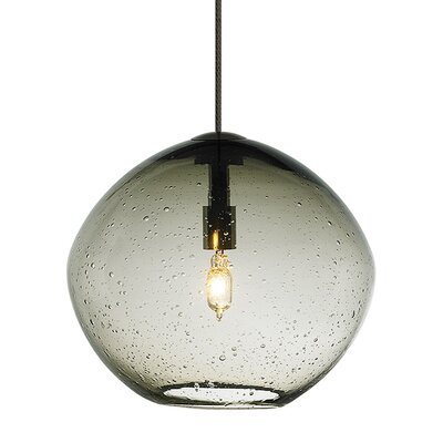 Mini Isla 1-Light Fusion Jack Bowl Pendant Finish: Bronze, Shade Color: Smoke