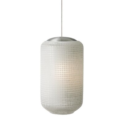 Aiko 1-Light Mini Pendant Shade Color: Ivory, Finish: Bronze