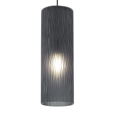 Mini-Akari 1-Light Monopoint Mini Pendant Finish: Bronze, Shade Color: Still Blue, Bulb Type: GY35 Xenon 50 W