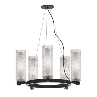 Rock Candy 5-Light Shaded Chandelier Finish: Bronze, Shade Color: Clear