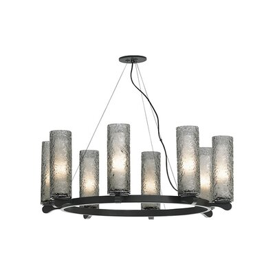 Rock Candy 8-Light Shaded Chandelier Finish: Bronze, Shade Color: Smoke