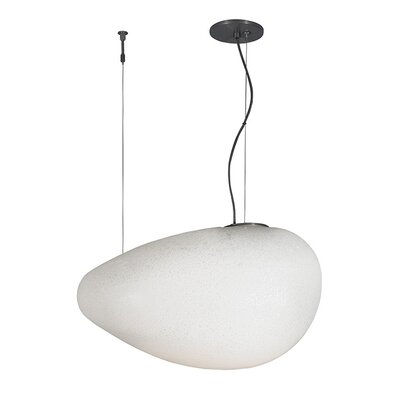 Constellation Grande 1-Light Pendant Finish: Bronze, Shade Color: Opal, Bulb Type: Incandescent