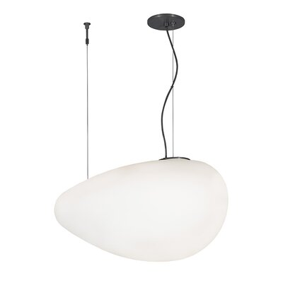 Constellation Grande 1-Light Pendant Finish: Bronze, Bulb Type: Compact Fluorescent, Shade Color: Solid Opal