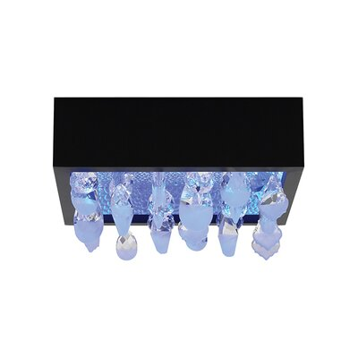 Little Lulu 1-Light Flush Mount Shade Color: Black FM707BLCRLED