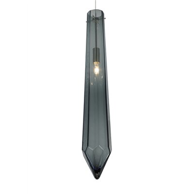 Dia 1-Light Monorail Mini Pendant Finish: Satin Nickel, Shade Color: Gray