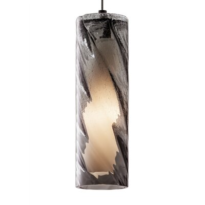 Paige 1-Light Mini Pendant Finish: Bronze, Shade Color: Amber