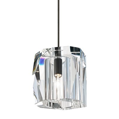 Stonecipher 1-Light Monorail Mini Pendant Finish: Bronze