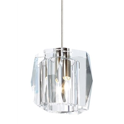 Lexum 1-Light Monorail Mini Pendant Finish: Satin Nickel