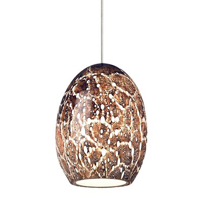 Lilah Fusion Jack 1-Light LED Mini Pendant Shade Color: Eggplant, Bulb Type: GY6.35 Xenon 50 W, Finish: Satin Nickel