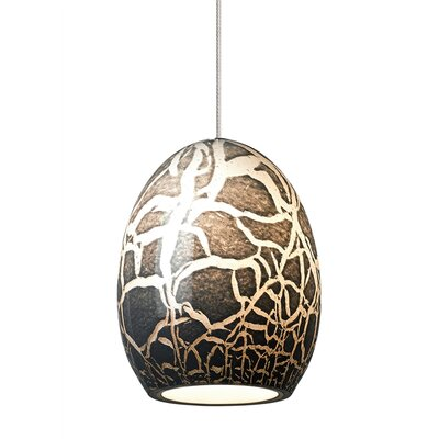 Lilah 1-Light Monorail Mini Pendant Finish: Bronze, Shade Color: Eggplant, Bulb Type: GY6.35 Xenon 50 W