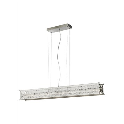 Questa 1-Light LED Kitchen Island Pendant Shade Color: Era Metal, Bulb Type: LED 277 V